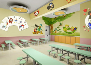 21世纪唯美的幼儿园墙面布置设计效果图片