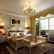 现代大户型欧美家装风格卧室室内装修效果图片