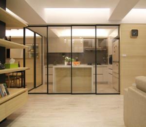 2016大户型欧式精美的厨房推拉门装修效果图