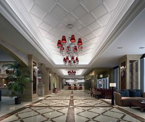 2016都市欧式酒店大堂吊顶设计装修效果图鉴赏