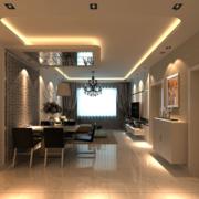 小户型现代主义风格餐厅背景墙装修效果图