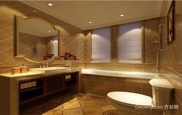 90平米大户型马可波罗瓷砖卫生间背景墙装修效果图