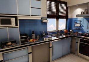70平米欧式小户型小厨房设计吊顶装修效果图