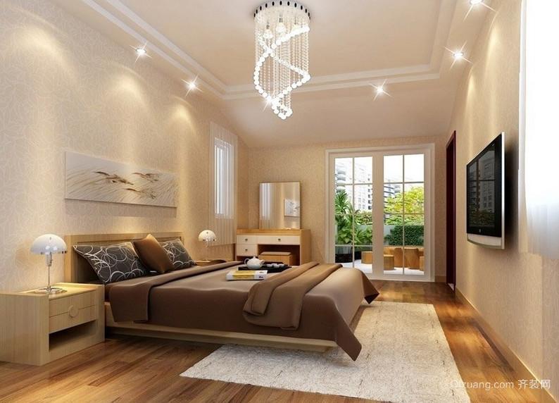 现代都市优雅的单身公寓卧室装修效果图
