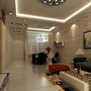 2016欧式小型公寓室内吊顶装修效果图