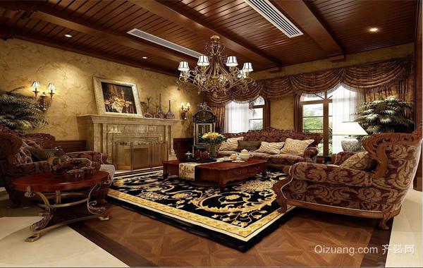 2016精致的现代美式别墅室内吊顶装修效果图