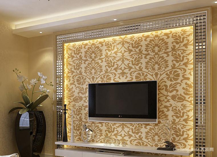100平米精致的大户型简单欧式电视墙装修效果图