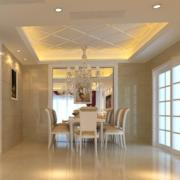 2016现代欧式单身公寓餐厅装修效果图