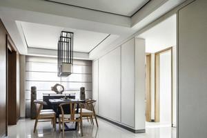 内敛空间:简约现代中式三居室家装效果图