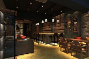 复古60平米小户型咖啡馆设计图片