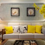 新中式客厅精美背景墙