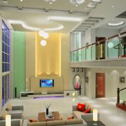2016现代欧式精美别墅楼中楼装修效果图实例