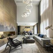 新中式挑高客厅设计