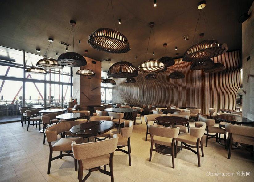 前卫大户型咖啡馆吊灯设计装修图片