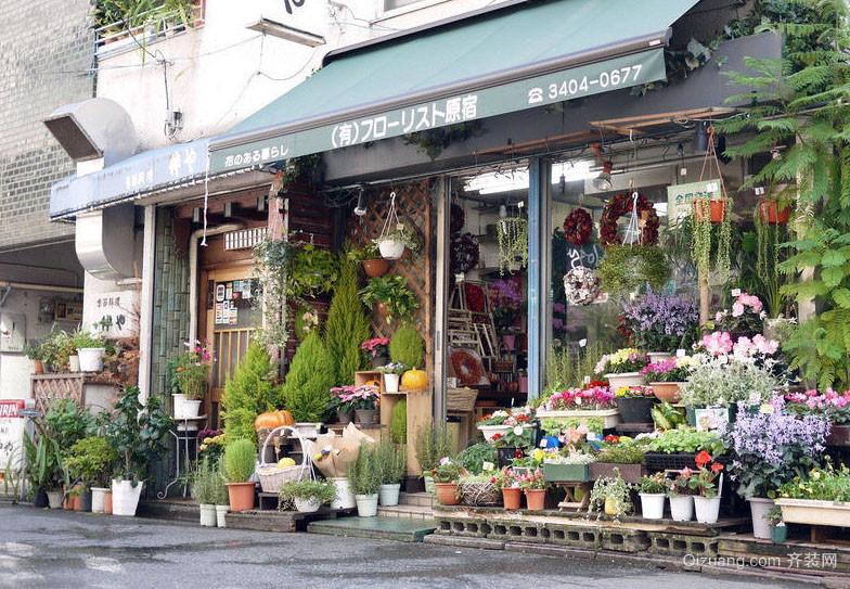 日式风格的小户型花店装修效果图