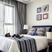 新中式小卧室窗帘