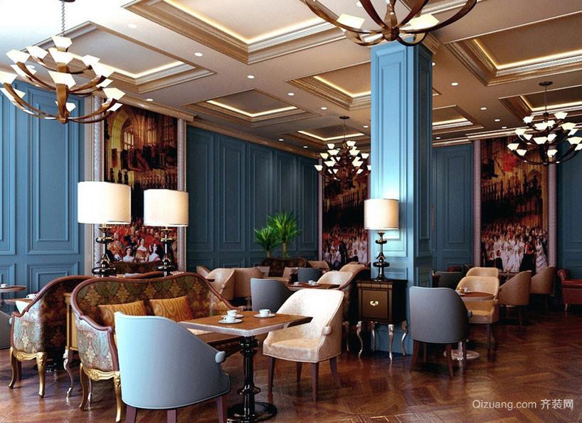 高雅简欧风格大户型咖啡馆设计图片