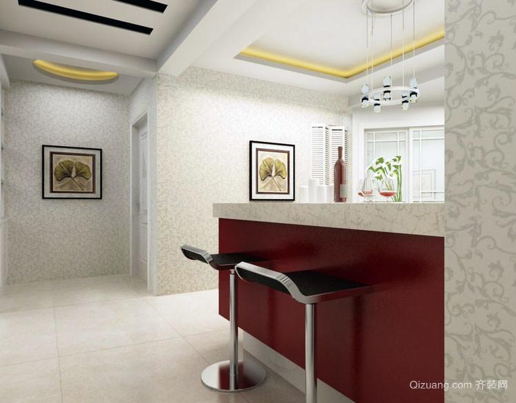 现代三室一厅家居吧台装修效果图