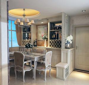120平米大户型欧式室内酒柜装修效果图实例