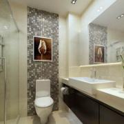 现代宜家精致的欧式小卫生间装修效果图