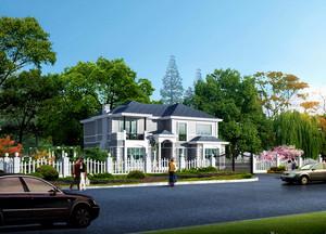 2016精致的现代农村别墅外观效果图实例欣赏