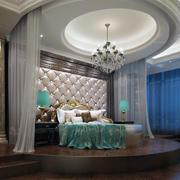 现代卧室背景墙整体图