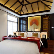 新中式卧室个性吊顶