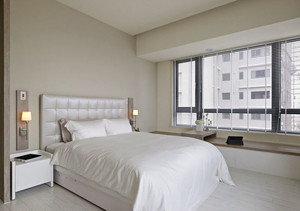 2016现代小户型40平米家居飘窗装修效果图