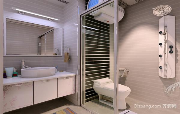 90平米大户型欧式洗手间背景墙设计装修效果图鉴赏