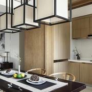 新中式开放式厨房设计