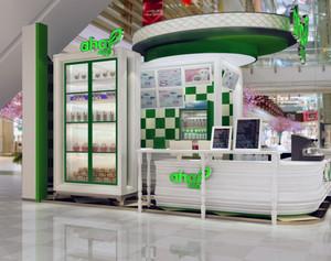 2016都市精美的现代甜品店室内吊顶装修效果图