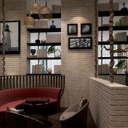新古典风格小咖啡馆隔断墙设计图片