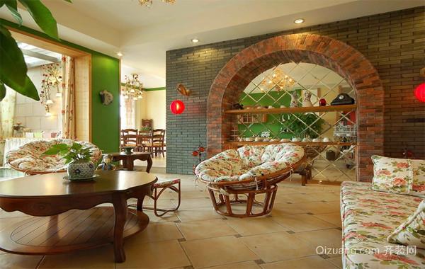 2016经济实惠的大户型室内客厅墙面漆装修效果图
