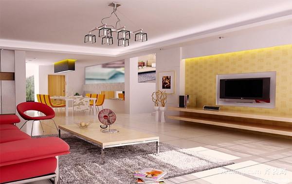 2016完美欧式大户型家庭客厅背景墙装修效果图