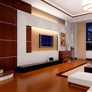 客厅生态木地板展示