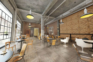 2016loft风格大型咖啡馆设计装修图片