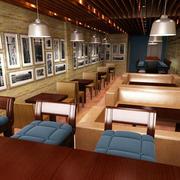 精致40平米小户型咖啡馆照片墙设计图片