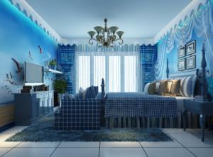 80平米小户型地中海风格儿童房装修效果图