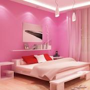 粉紫色甜美卧室展示