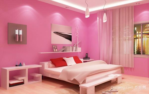 温馨现代女生18平米卧室装修设计效果图