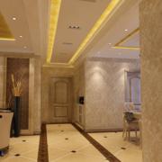 2016大户型欧式室内走廊吊顶装修效果图鉴赏
