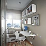小户型书房墙上置物柜