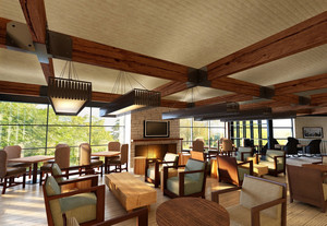 现代东南亚风格大户型咖啡馆设计图片