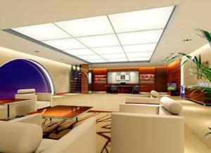 现代都市精美的办公室吊顶装修实景效果图