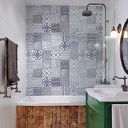 北欧卫生间背景墙瓷砖
