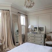 北欧卧室布艺窗帘欣赏