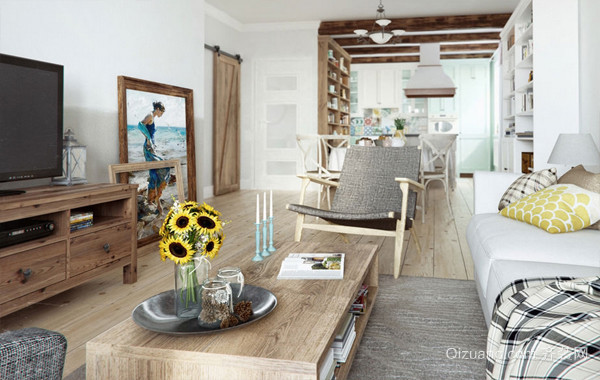 现代北欧风格60平米家居装修效果图