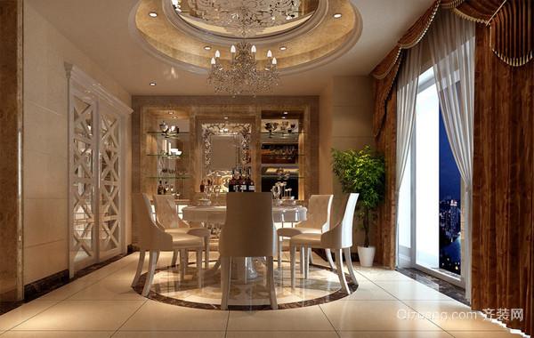欧式风格大户型别墅餐厅设计效果图