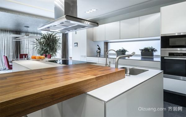 2016精致的现代大户型欧式厨房橱柜装修效果图