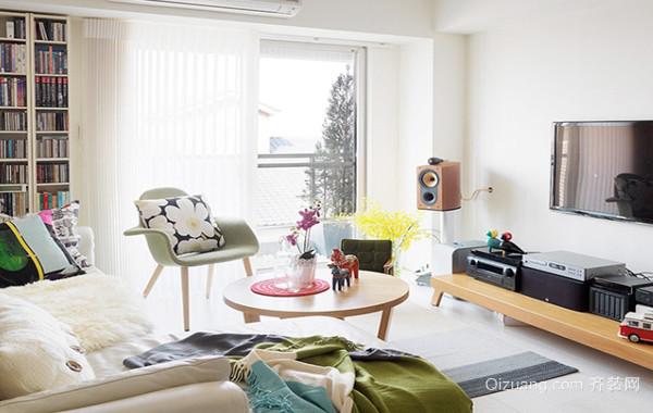 2016轻快北欧风格单身小公寓装修效果图